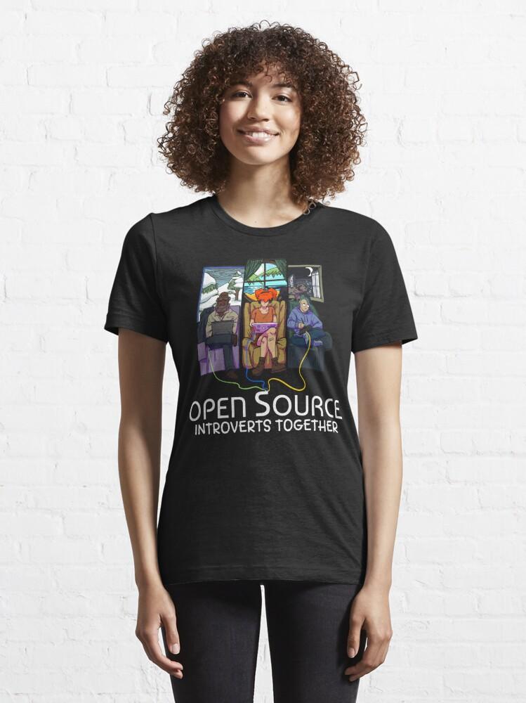 Alternate view of Open Source (Light) Essential T-Shirt