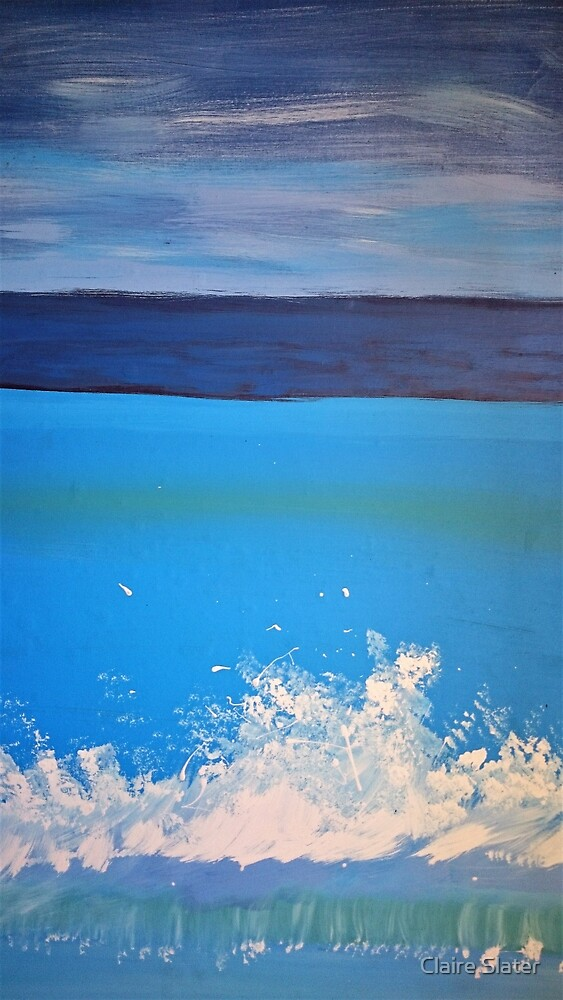 Beach wave by Claire Slater