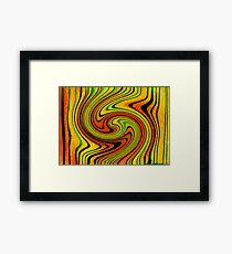 Psychedelic Summer Swirl Watercolor Painting Framed Print