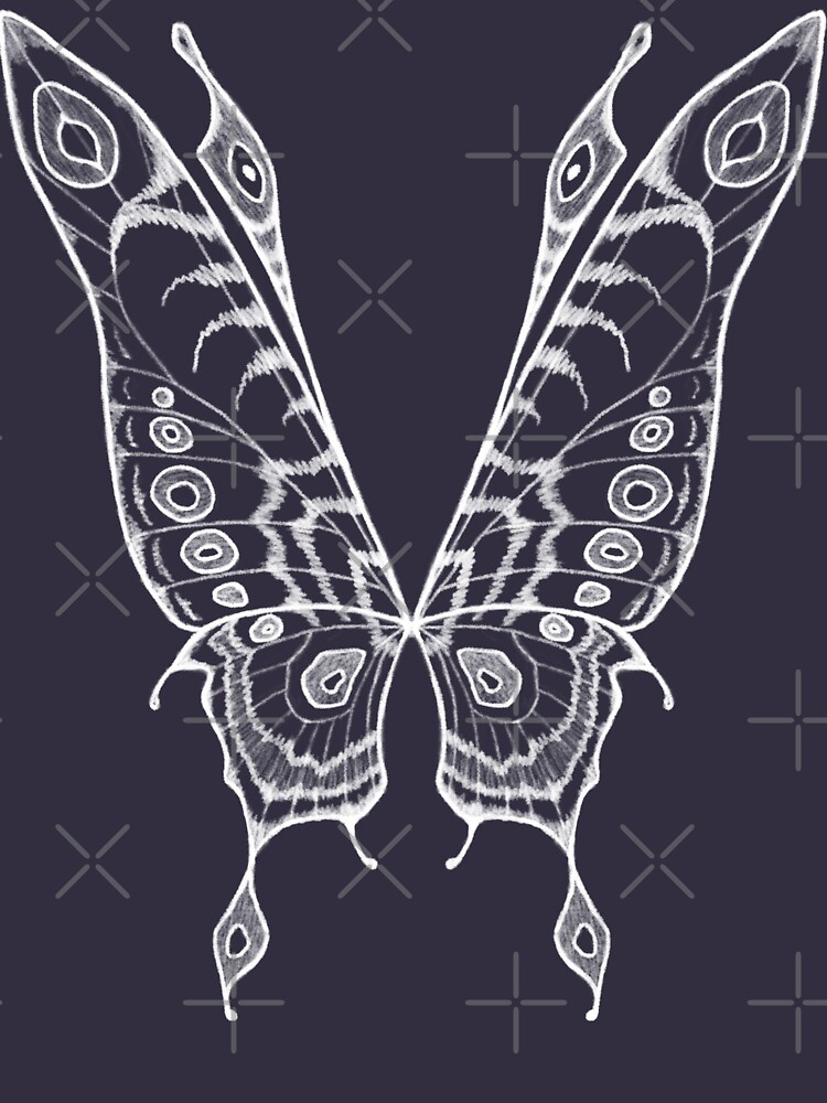 Fairy Wings (White Linework) by GriffinJDesigns
