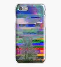 it was a bright glitching day iPhone Case/Skin