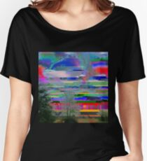 it was a bright glitching day Women's Relaxed Fit T-Shirt