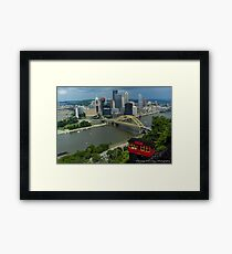 Mt. Washington Overlook & The Incline - Pittsburgh Pa Framed Print