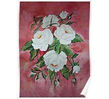 White Roses Poster