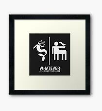 WHATEVER Just Wash Your Hands (White version) Framed Print