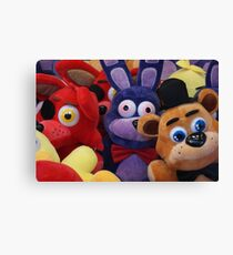 Colourful Soft Toys in Toy Grabber, Claw Canvas Print