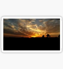 Sunset over Baldivis Sticker