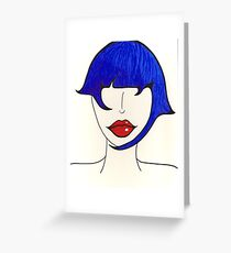 Fashion in Blue Greeting Card