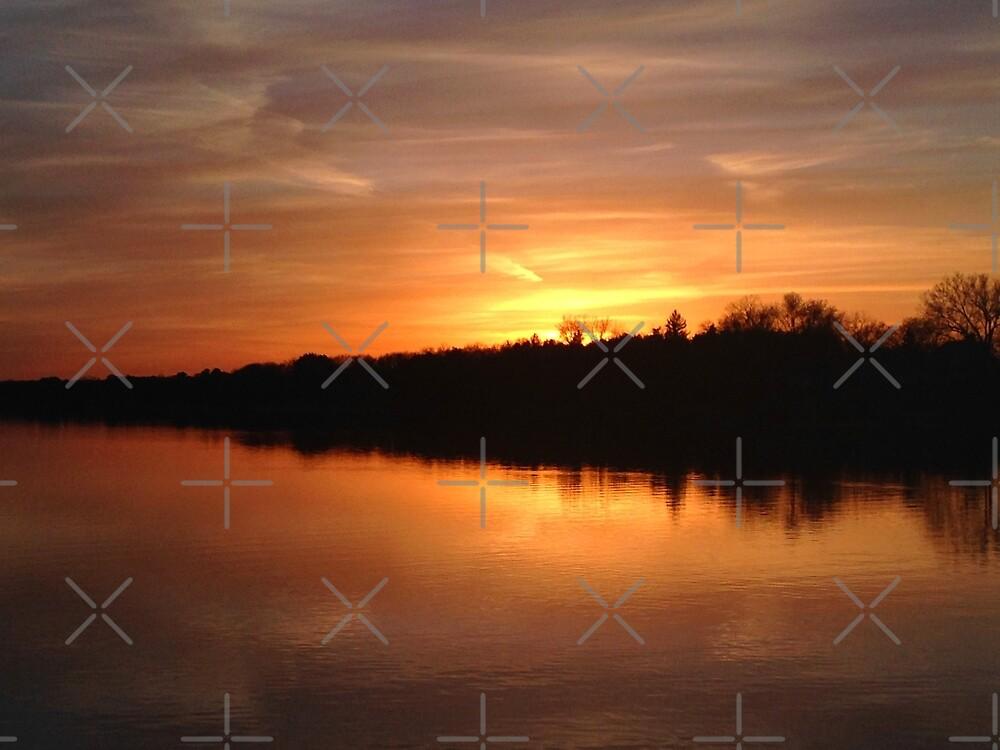 Buffalo Lake Sunset by Anna Cooke