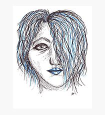 The Girl in Blue Photographic Print
