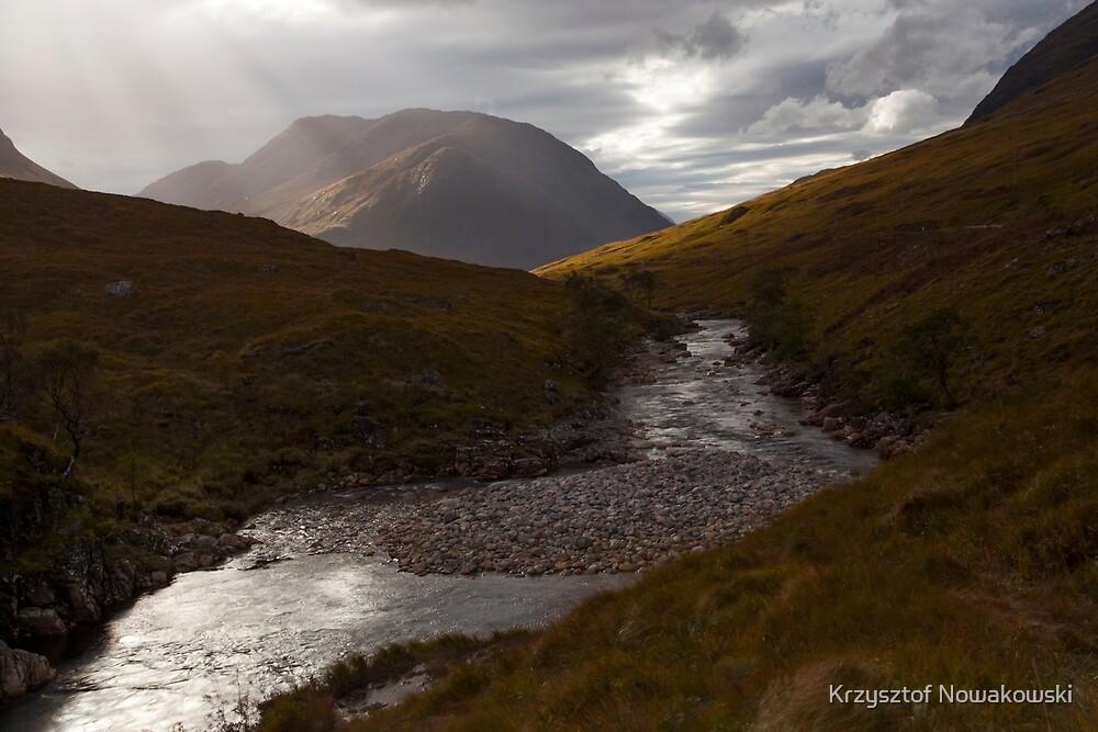 River Etive, Scotland by Krzysztof Nowakowski