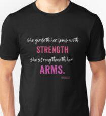 Proverbs Christian Womens Bible Workout Unisex T-Shirt