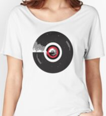 Vinyl record in a modern flat style design Women's Relaxed Fit T-Shirt