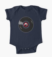 Vinyl record in a modern flat style design One Piece - Short Sleeve