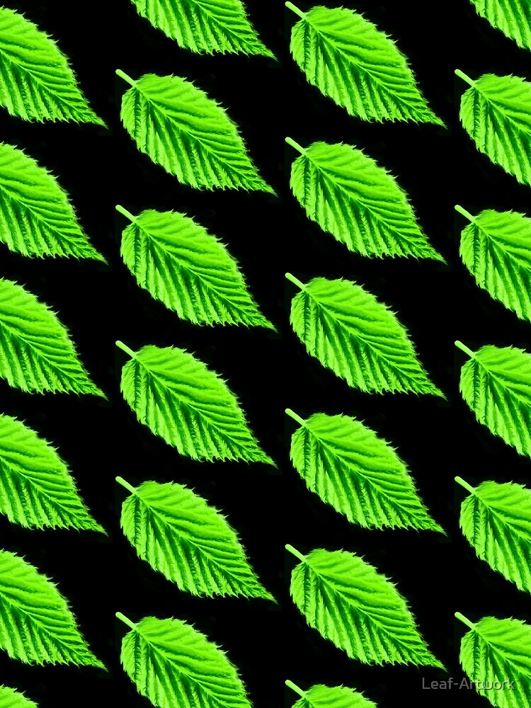 Black/Green simple Leaf design  by Leaf-Artwork