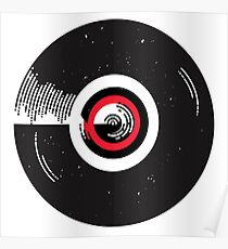 Vinyl record in a modern flat style design Poster