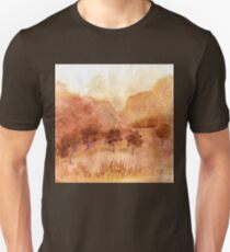 Landscape Watercolour  Painting Limited Palette Unisex T-Shirt