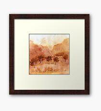 Landscape Watercolour  Painting Limited Palette Framed Print