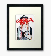 Grimes logo red Framed Print