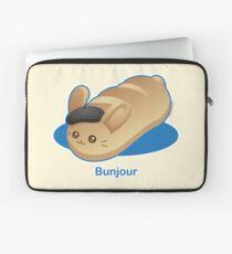 Bunjour -  Cute French Bread Bunny Pun Laptop Sleeve
