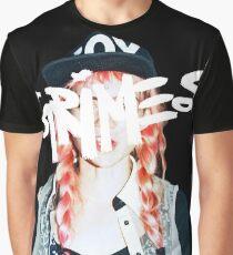 Grimes logo white Graphic T-Shirt