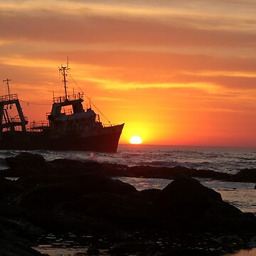 Shipwreck on Skeleton Coast - Namibia by AStevensAdmin