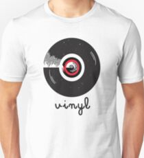 Vinyl record in a flat style design Unisex T-Shirt