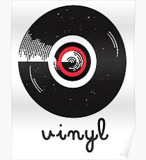 Vinyl record in a flat style design Poster