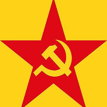 Communist Flag Star Hammer & Sickle by Chocodole