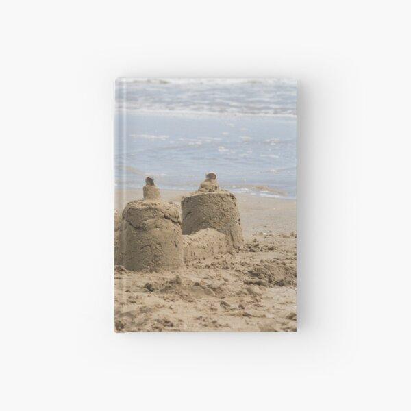 sandcastles on the beach Hardcover Journal