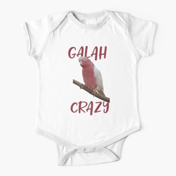 Galah Crazy Parrot Bird Short Sleeve Baby One-Piece