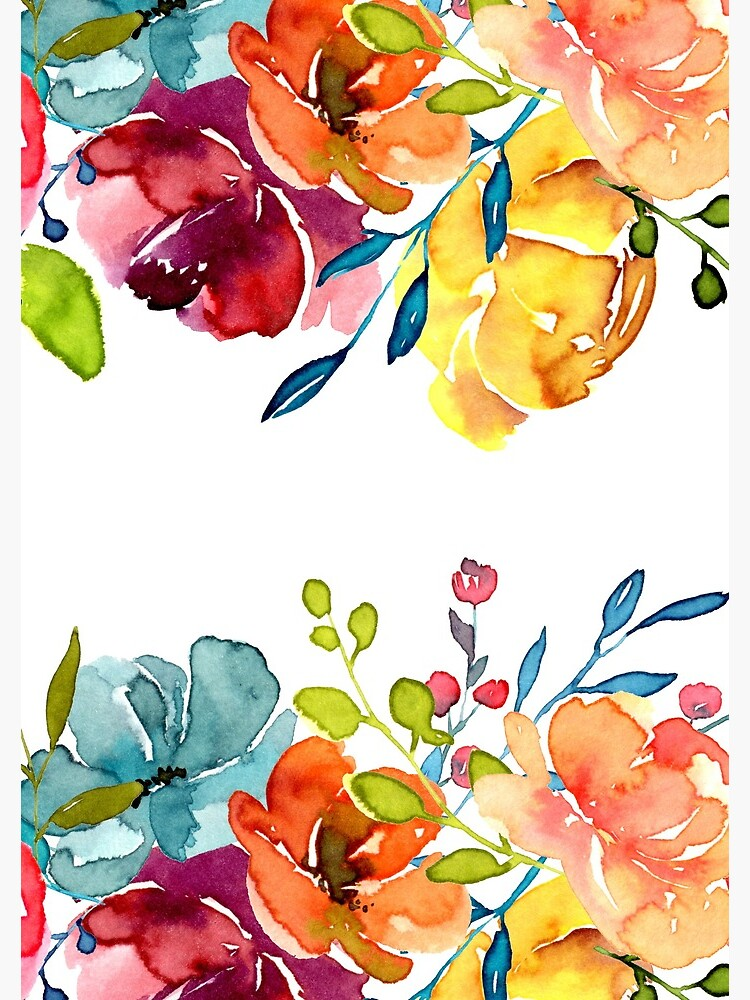 Bright Flowers Summer Watercolor Peonies by junkydotcom