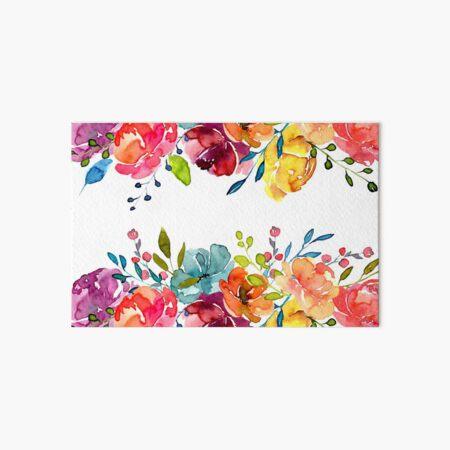 Bright Flowers Summer Watercolor Peonies Art Board Print