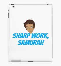 Sharp work, samurai! iPad Case/Skin