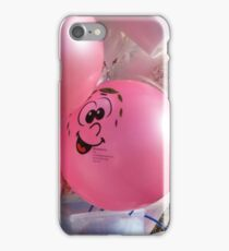 Funny Face Pink Balloon at the Beach iPhone Case/Skin