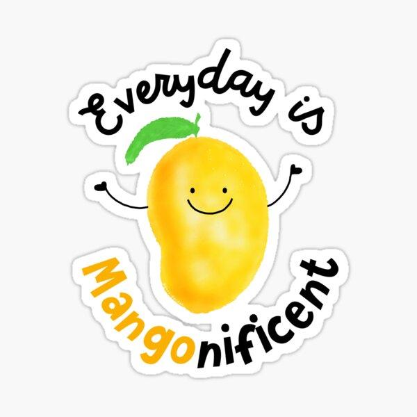 Everyday is Mango nificent - Punny Garden Sticker