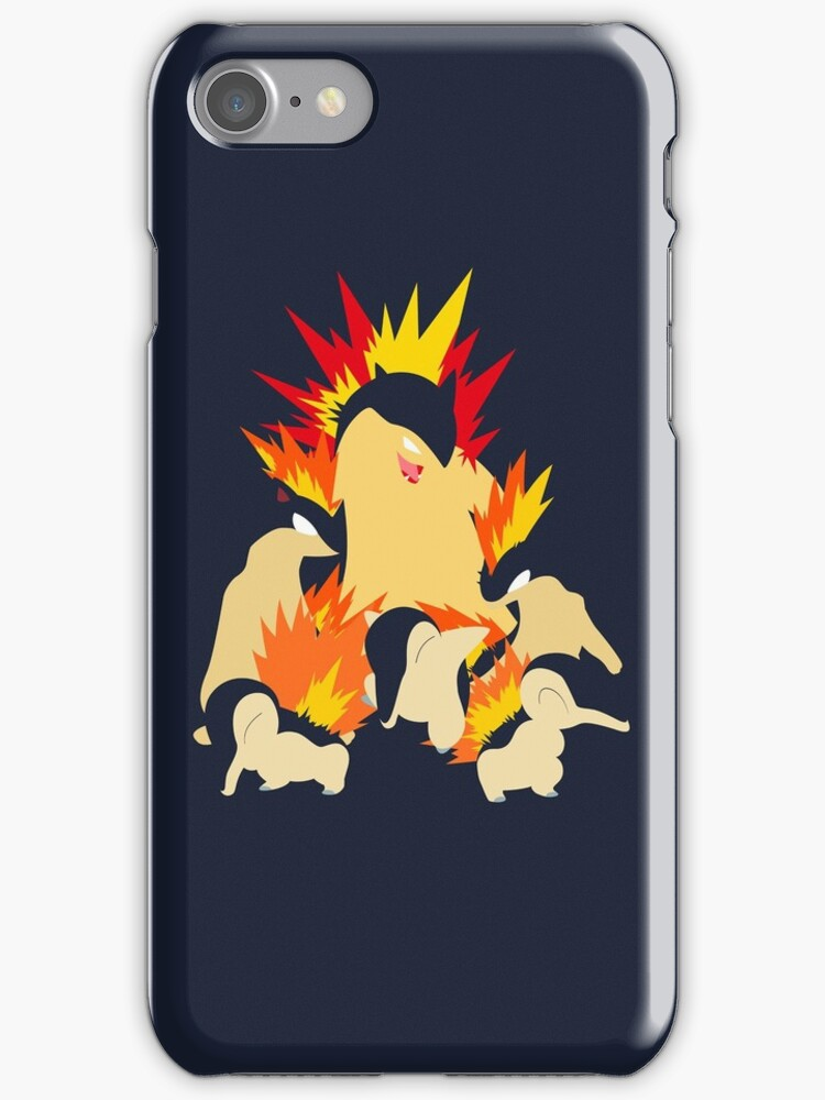 Cyndaquil - Quilava - Typhlosion by lomm