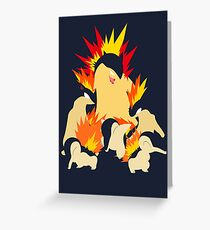 Cyndaquil - Quilava - Typhlosion Greeting Card