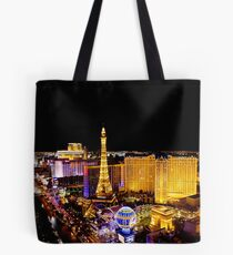 The Strip, at night Las Vegas, Nevada, USA Tote Bag