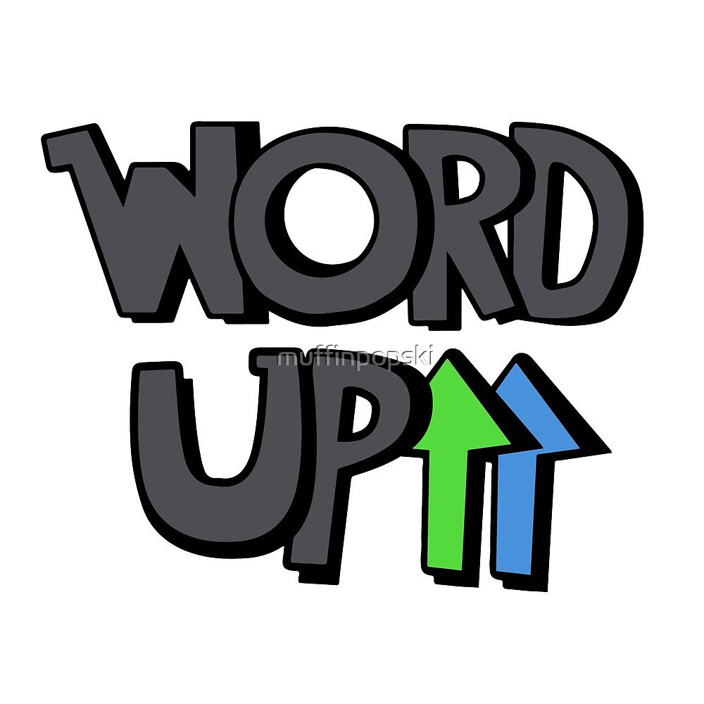 Word Up Logo Design by muffinpopski