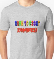 Born To Fight Zombies Baby Shower Shirt T-Shirt