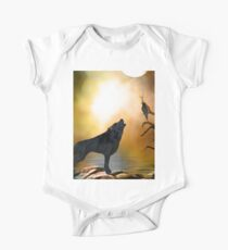 The lonely wolf Kids Clothes