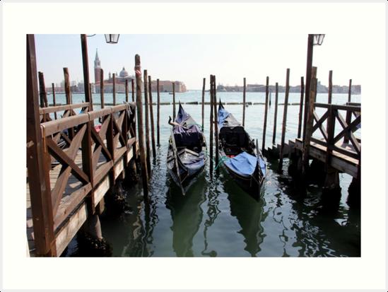 Venice twin Gondolas by PhotosbyRhea