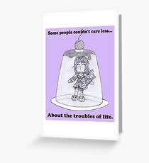Plutia Pudding Greeting Card
