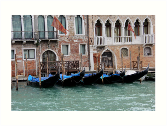 Venice 5 Gondolas by PhotosbyRhea