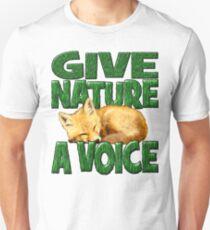 GIVE NATURE A VOICE- FOX CUB Unisex T-Shirt