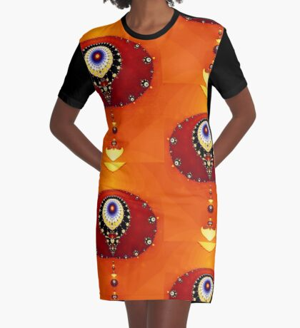 God's Eye II Graphic T-Shirt Dress