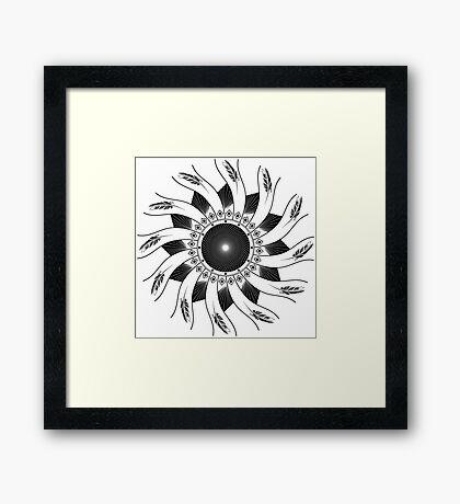 Mandala B&W Framed Print