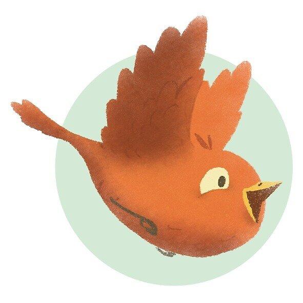 Bird fly by sketchfox-art