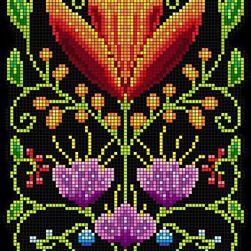 Pixel-art flornament by ivrona